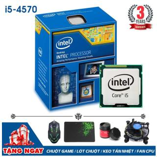 Bộ vi xử lý Intel CPU Core I5 4570 3.6Ghz (4 lõi, 4 luồng) + Quà Tặng - Bảo hành 3 năm - Hàng Nhập Khẩu thumbnail