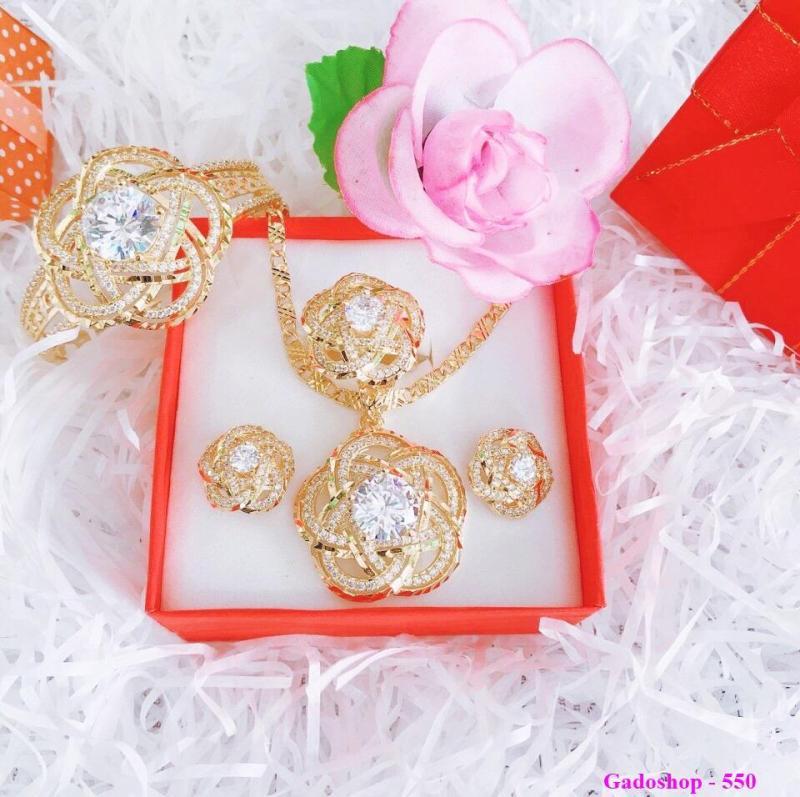 Bộ Trang Sức Nữ Xi Vàng 18k _ BTS040602 Gadoshop