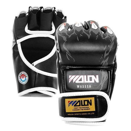 Không Thể Bỏ Qua Giá Hot với Găng Tay đấm Boxing Hở Ngón MMA Wolon (đen)