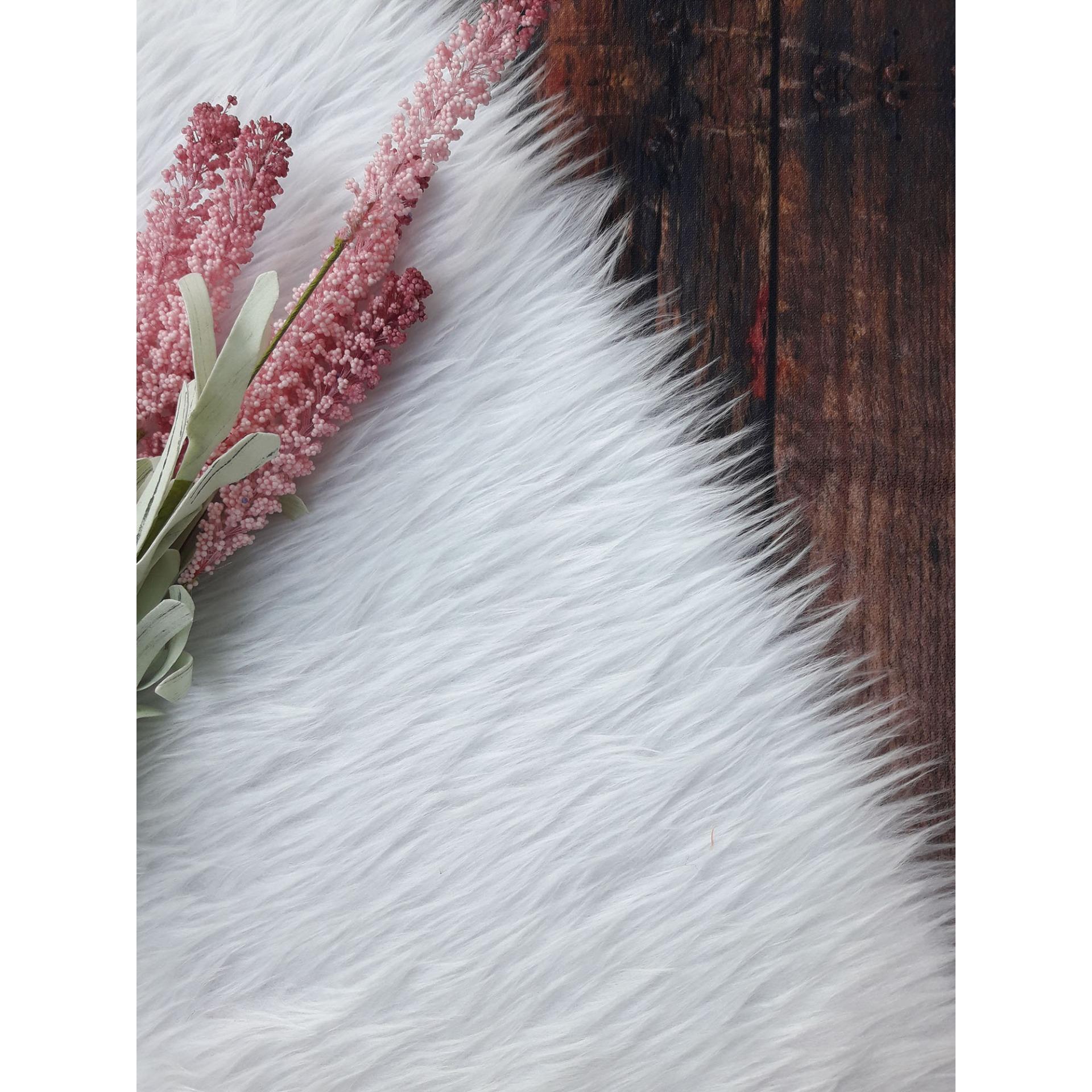 Giảm Giá Quá Đã Phải Mua Ngay Thảm Lông Chụp Hình Màu Trắng (lông Sợi To) Size 40x50cm