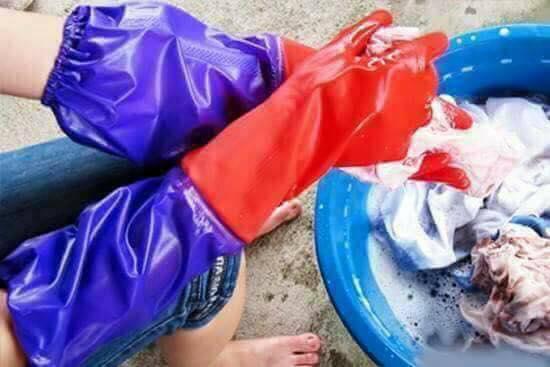 Combo 2 đôi găng tay cao su lót nỉ