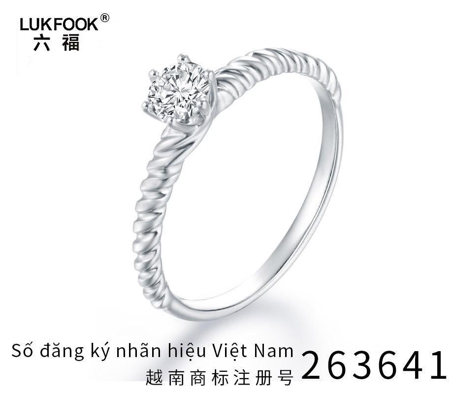 Lukfook 六福 Nhẫn kim cương nữ Xoắn