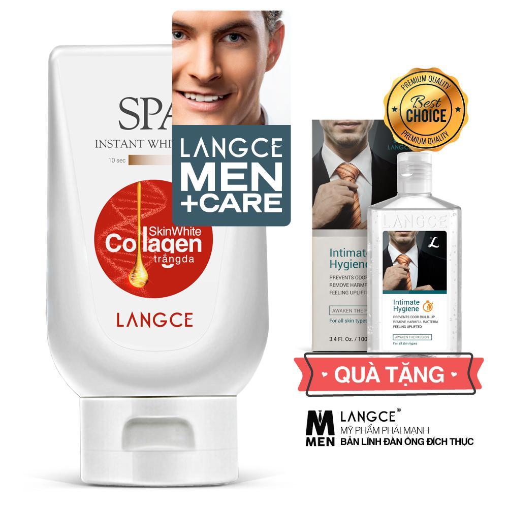 Collagen Trắng Da Spa+ Chống Nắng, Giữa Ẩm Ngừa Lão Hóa 180ml TẶNG Gel Vệ Sinh 100ml LANGCE dành cho Nam
