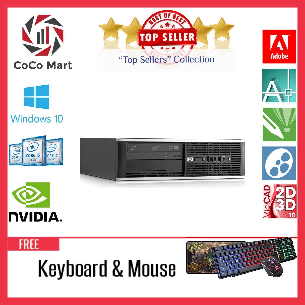 Máy tính Văn Phòng HP 8100 SFF Chạy CPU Core I3, Ram 8GB, SSD 120GB, HDD 1TB + Bộ Quà Tặng - Hàng Nhập Khẩu