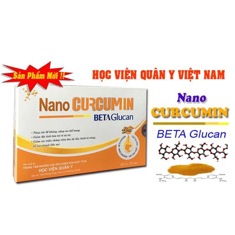 NANO CURCUMIN Nghệ BETA Glucan hỗ trợ điều trị đau dạ dày Học viện quân Y nhập khẩu