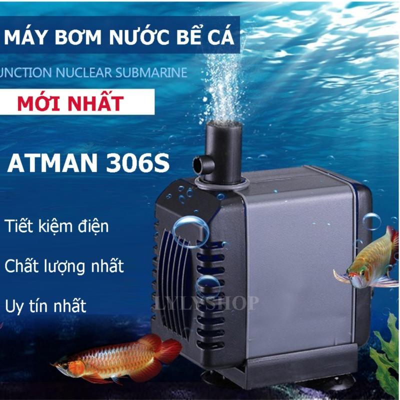 Máy bơm nước tăng áp,máy bơm nước hồ cá ATMAN AT-306s (27W, 2000l/h) cao cấp - Siêu bền, Bảo Hành Uy Tín 1 đổi 1