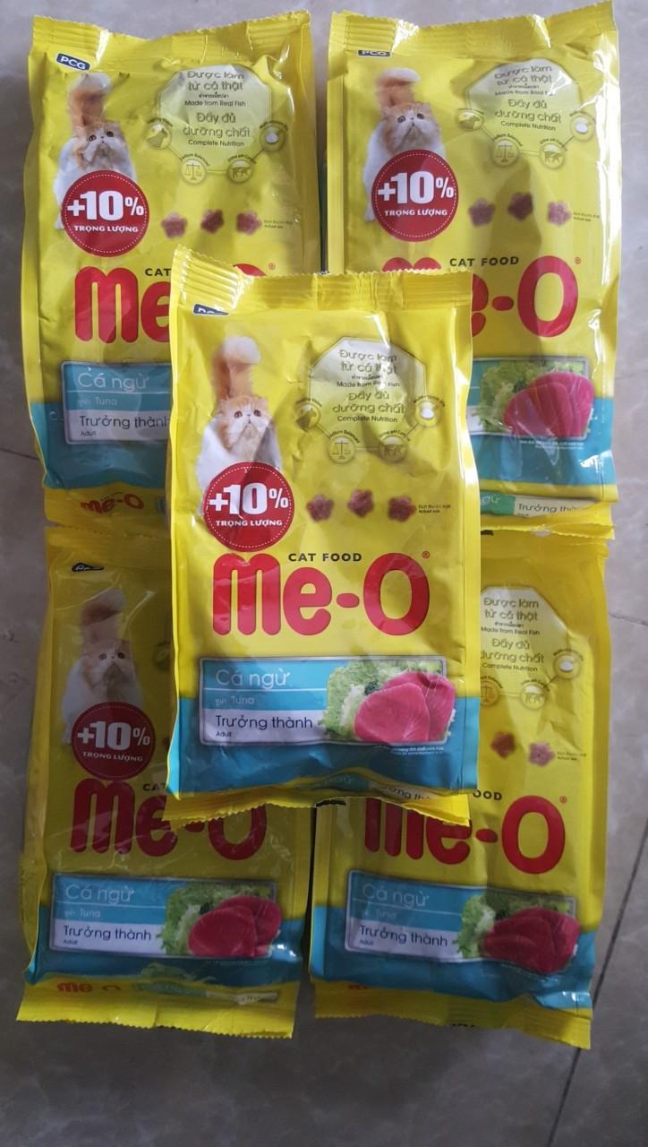 Combo 5 Gói ME-O 350gr - Thức ăn Dạng Hạt Cho Mèo Lớn Vị CÁ NGỪ Siêu Giảm Giá