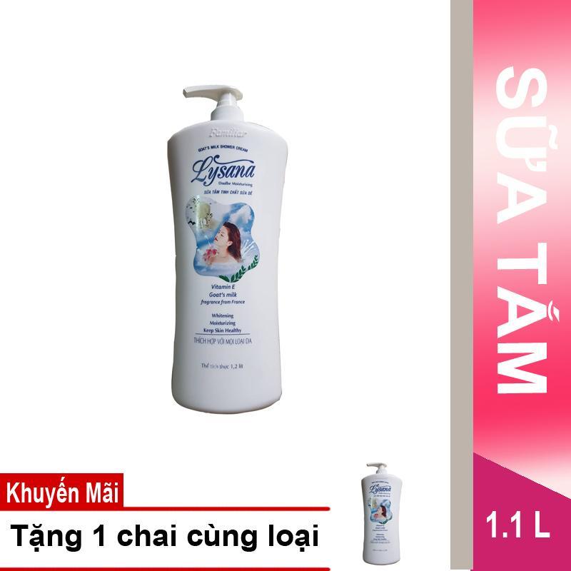 Hình ảnh Mua 1 Sữa tắm Lysana sữa dê 1.2L tặng 1 chai cùng loại