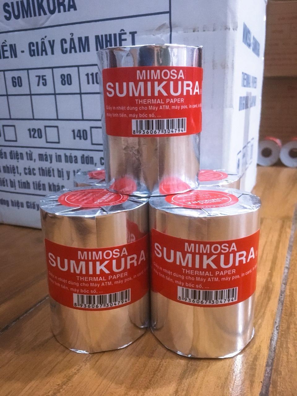 Mua Thùng 45 cuộn giấy In Bill ( Big size) Sumikura khổ 80Φ 80. Thương hiệu được cấp bởi Cục Sở Hữu Trí Tuệ. Xuất xứ: Nhật Bản