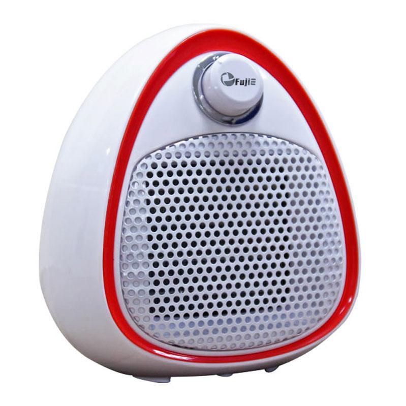 Quạt sưởi gốm Ceramic Mini FujiE CH-202 Red -Màu trắng viền đỏ, 2 chế độ ấm- nóng, không phát sáng