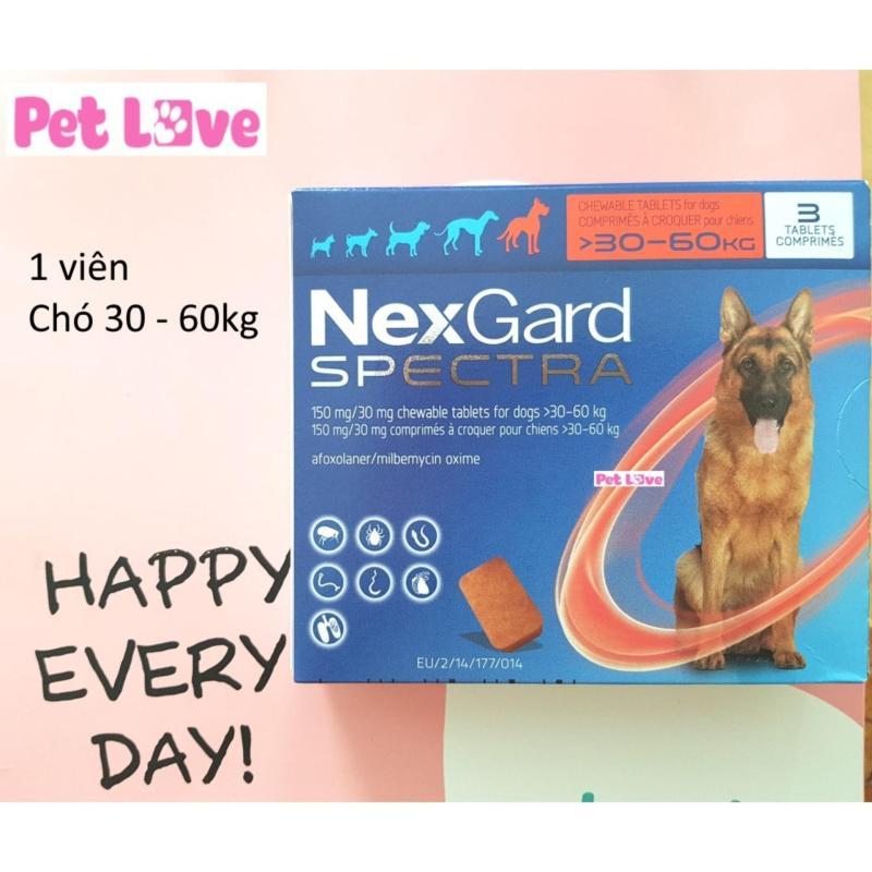 1 viên NexGard Spectra trị giun, ghẻ, viêm da, ve rận (chó 30 - 60kg)