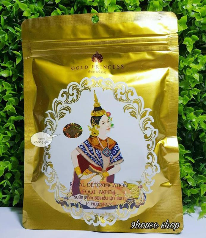 Miếng dán thải độc chân Gold Princess Royal Thái lan nhập khẩu