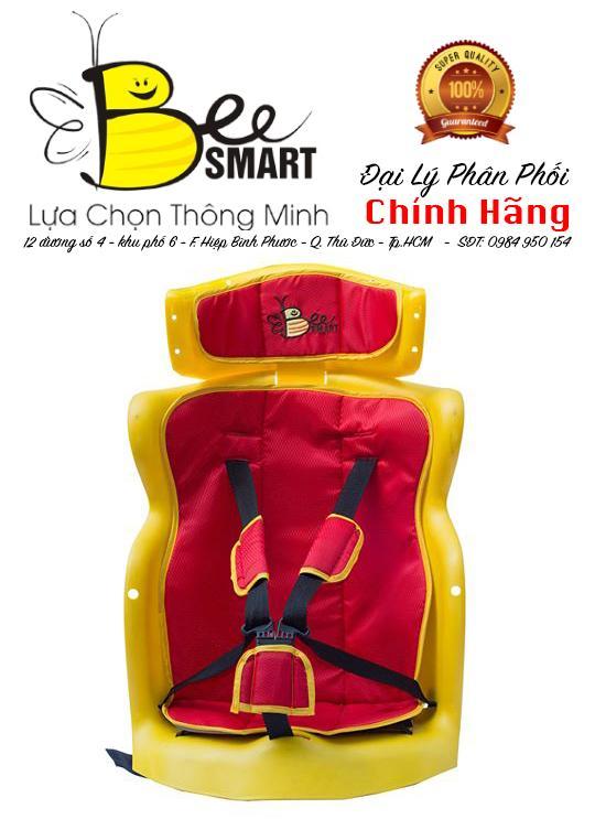 Ghế ngồi xe ga, số lắp sau cho bé BeeSmart - X2 Đỏ (Tặng 1 khăn voan che cho bé)
