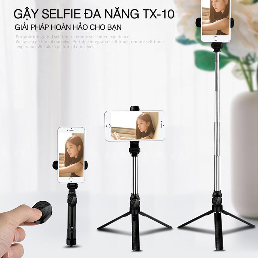 Hình ảnh Gậy selfie chụp ảnh đa năng XT-10 thế hệ 2 - Vừa tự sướng vừa làm tripod - Hàng nhập khẩu