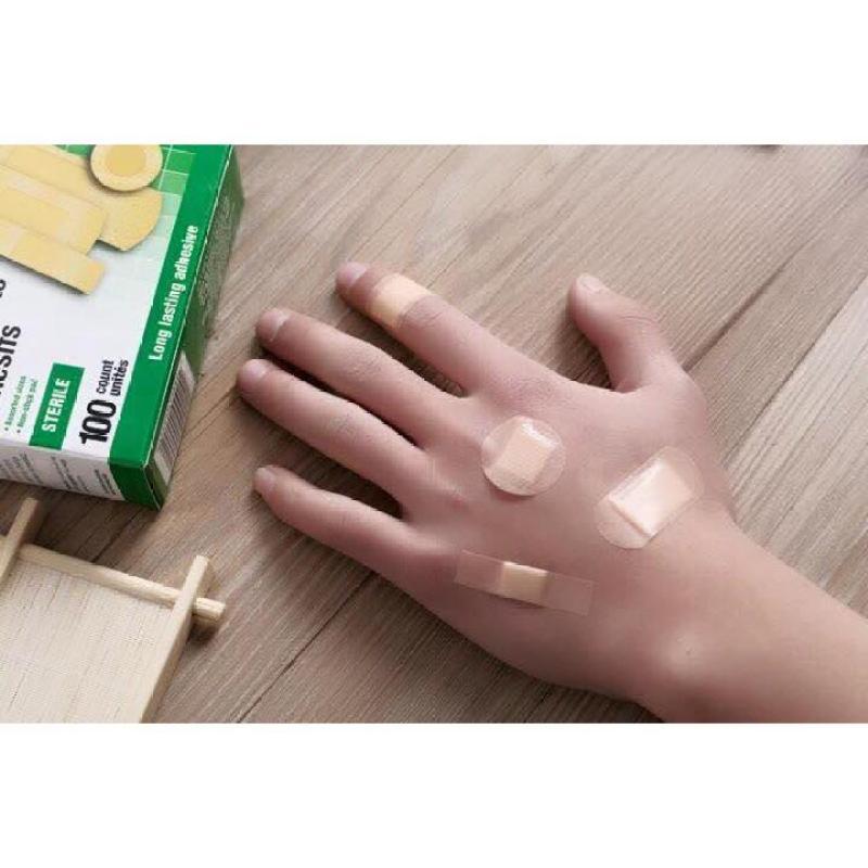 Hộp 100 miếng dán vết thương 4 kích thước First-Aid