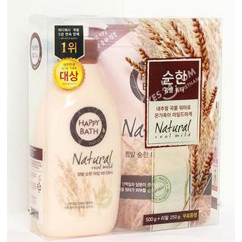 Mua Set 2 Sữa Tắm Trắng Da Happy Bath Hương Ngũ Cốc Natural Real Mild Body Wash Made In Han Quốc Mới