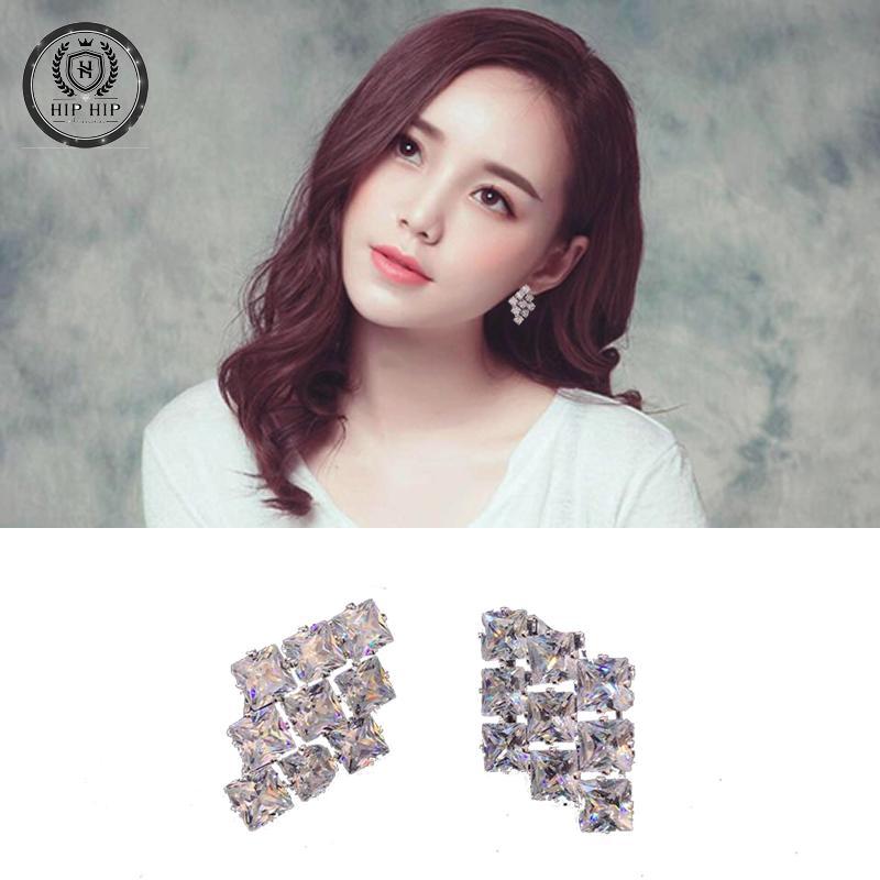 Bông tai bạc đính kim cương nhân tạo cao cấp KTND