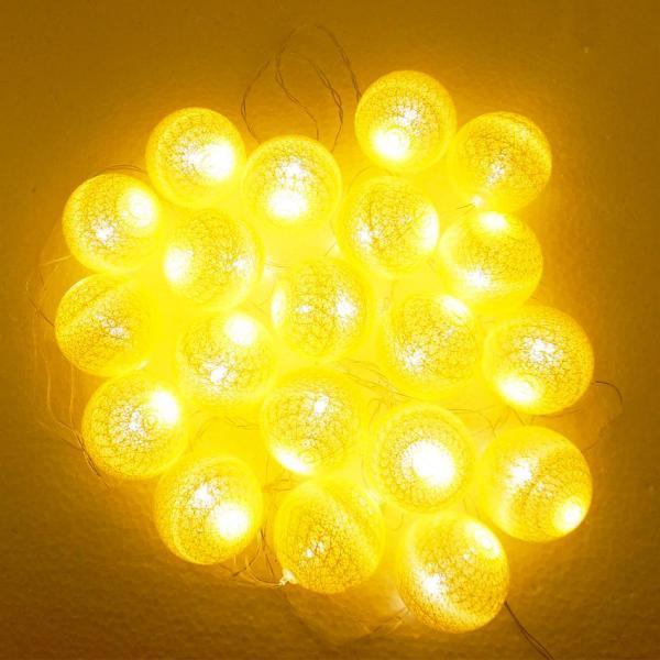 Đèn trang trí quả bóng bằng dây thừng và đèn led (Nhiều màu)