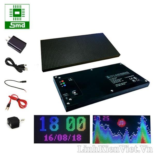 Đồng Hồ LED Nháy Theo Nhạc Full Color P5, Hiển Thị Thời Gian, Điện Áp 5V, Chất Liệu Vỏ Mica Sang Trọng