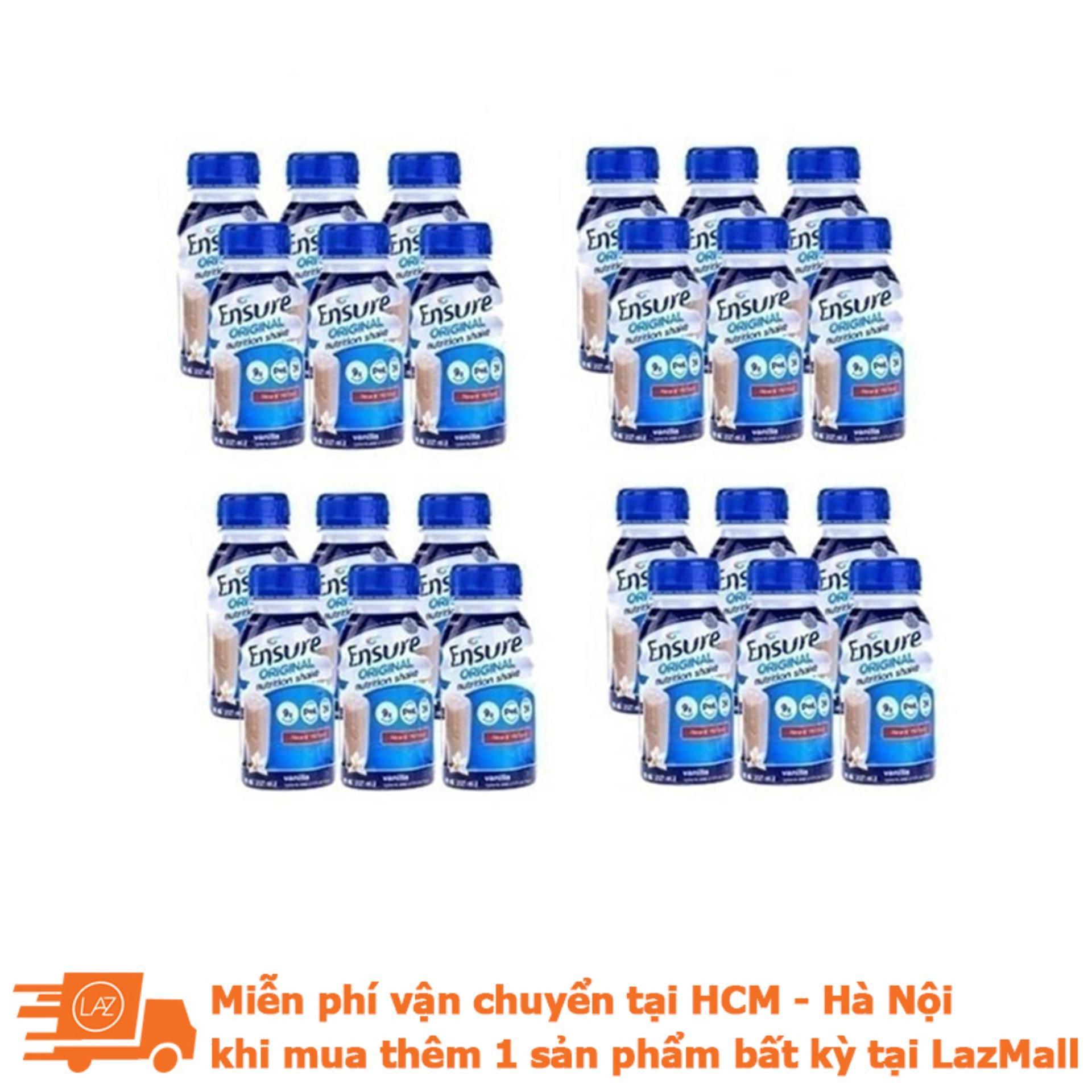 Thùng 24 Chai Sữa Nước Ensure Vani 237ml By Lazada Retail Ensure