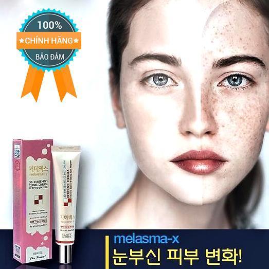 Kem Đặc Trị Thâm Nám Và Tàn Nhang Melasma-X 3D Whitening Clinic Cream - Chính Hãng Hàn Quốc.