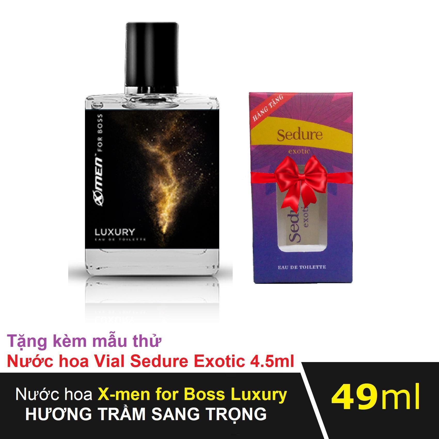 Nước hoa Xmen for Boss Luxury 49ml tặng kèm Nước hoa Vial Nữ Sedure Exotic 4.5ml hương thơm sang trọng cho cặp đôi