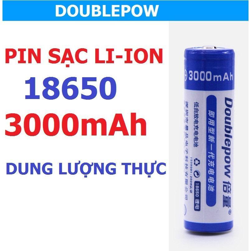 Hình ảnh Pin 18650 Doublepow 3000mAh dung lượng thực ( 1 viên)