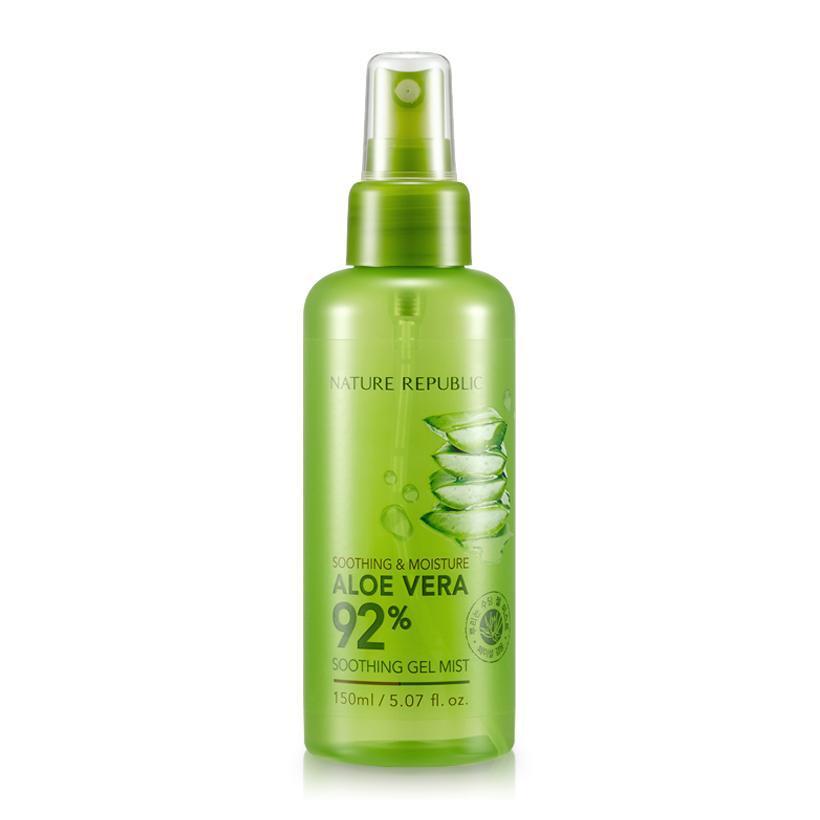 Xịt Khoáng Soothing & Moisture Aloe Vera 92% Soothing Gel Mist 150ml