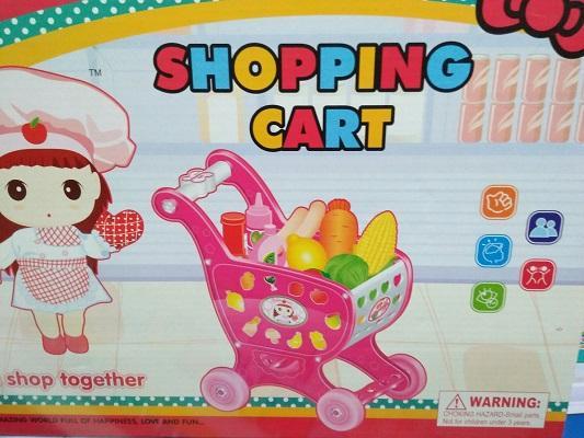 Hình ảnh Đồ chơi xe đẩy,Bộ xe đẩy mua sắm,Xe đay mua sam cao cap cho be