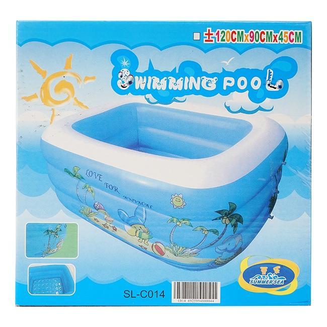 Bể bơi phao chữ nhật Intex cho bé họa tiết Summer Sea C014