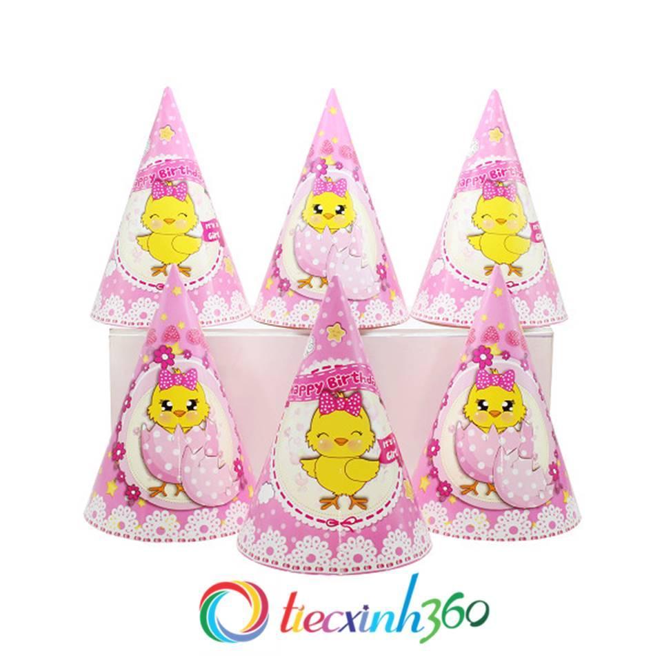 Hình ảnh 6 nón sinh nhật hình gà con
