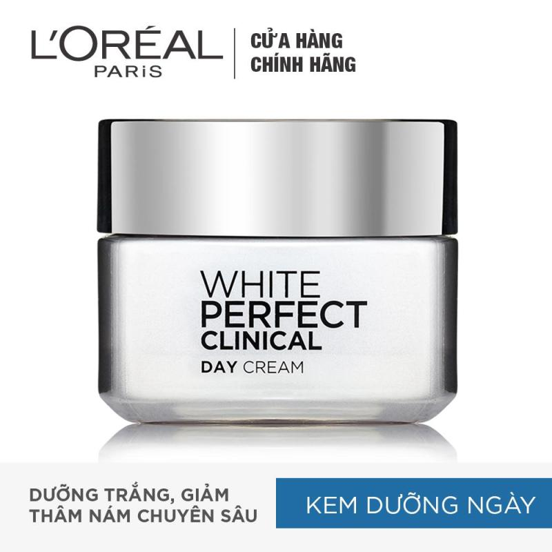 Kem dưỡng trắng mịn và giảm thâm nám ban ngày LOreal Paris White Perfect Clinical Day SPF 19PA +++ 50ml nhập khẩu