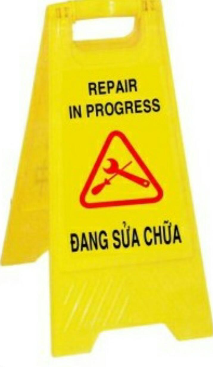 Bảng cảnh báo đang sửa chữa
