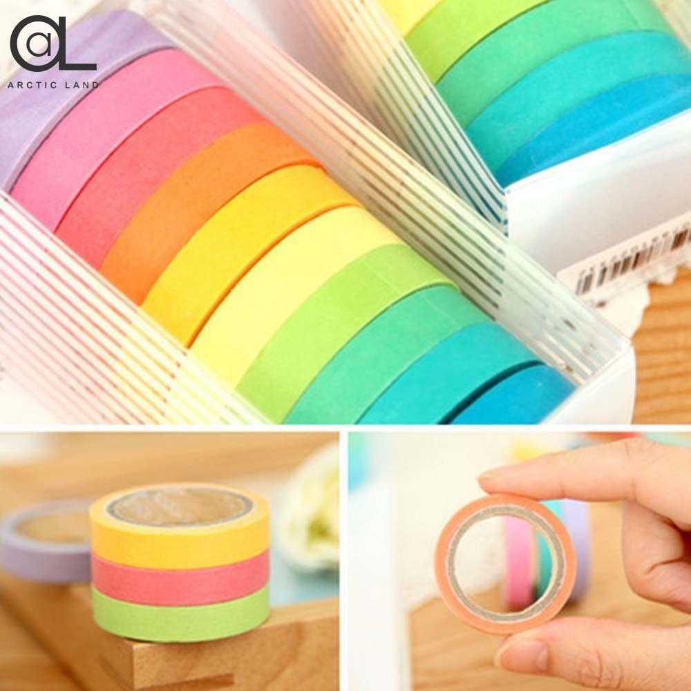 Mua 10x Rainbow Washi Sticky Paper Masking Adhesive Decorative Tape Cute Gift