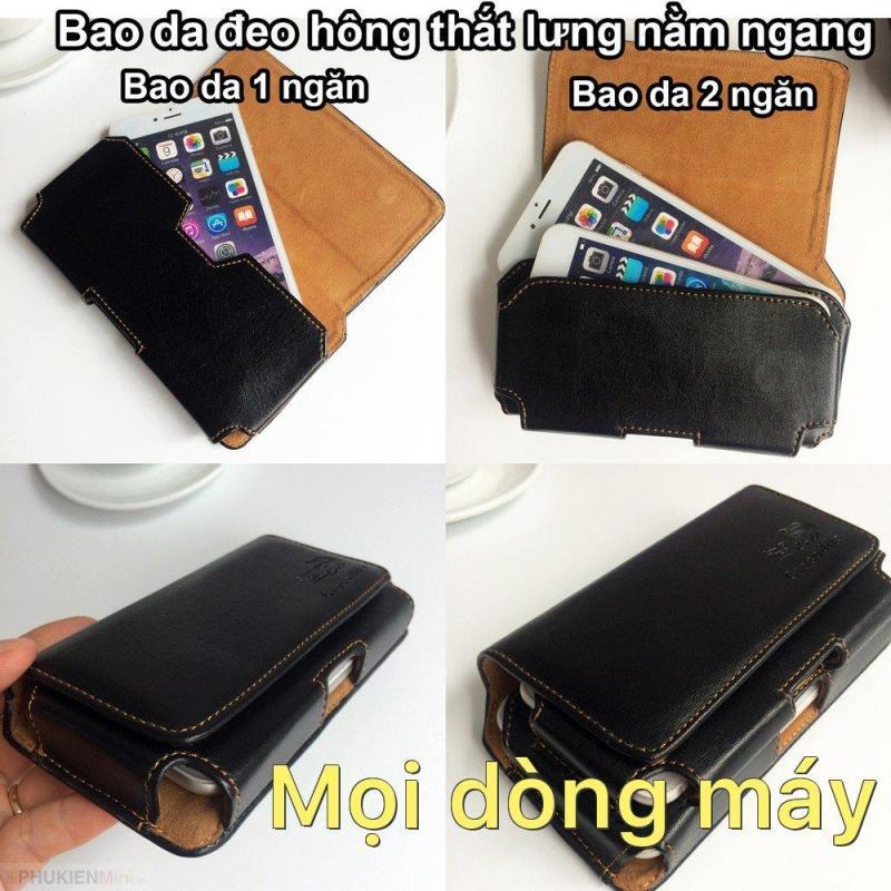 Giá Bao da túi đeo hông thắt lưng nằm ngang 1 ngăn và 2 ngăn cho điện thoại 5 inch, 5.2 inch, 5.5 inch, 6 inch, 6.3 inch Mọi dòng máy