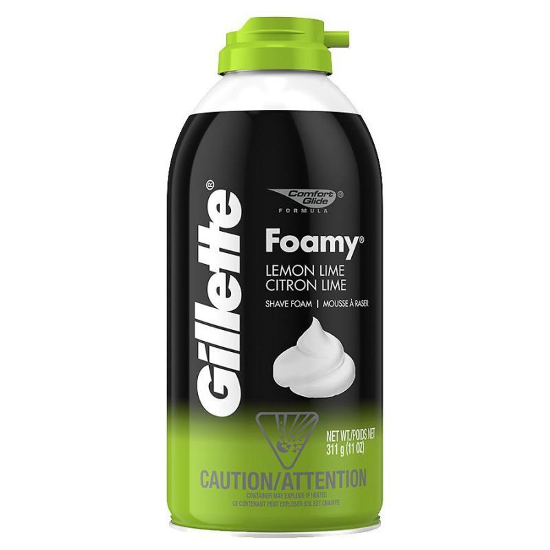 Kem cạo râu Gillette Lemon Lime hương chanh mát 311g (nhập khẩu mỹ) - Xanh