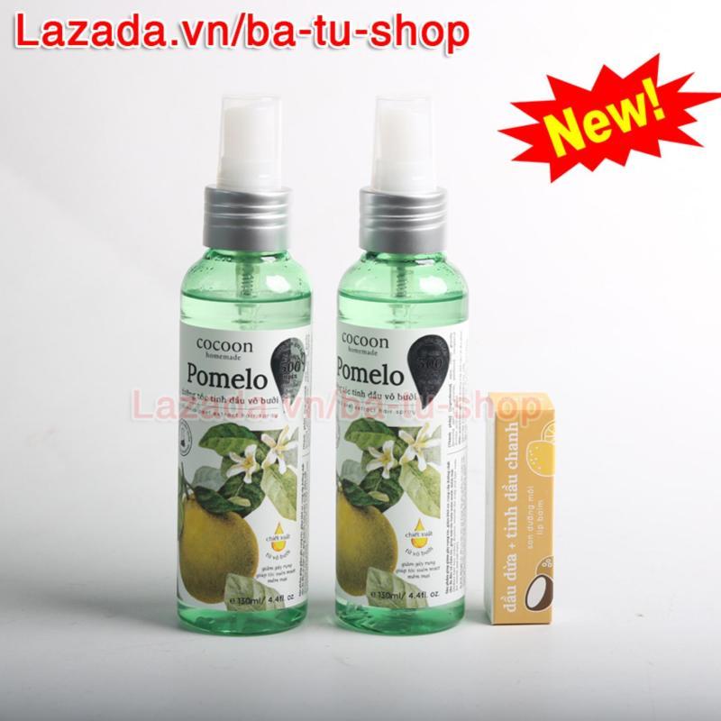 Bộ 2 Chai Xịt Tinh Dầu Bưởi Pomelo (Tặng 1 Son) Ngăn rụng tóc giúp tóc dài và dày hơn 130ml nhập khẩu