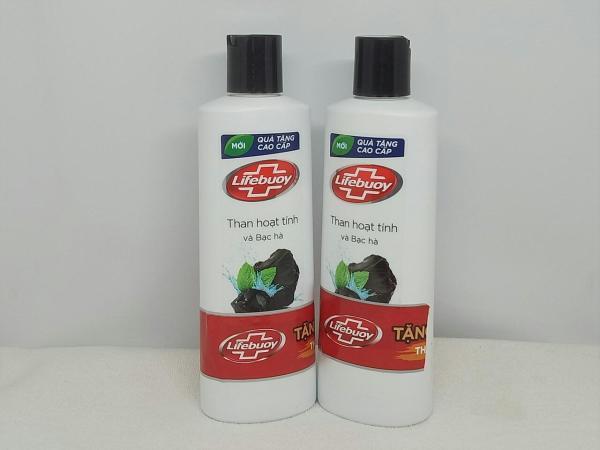 Combo 2 Chai Sữa Tắm Dexto Lifebuoy Than Hoạt Tính và Bạc Hà (200g/chai) + TẶNG 2 MÓN : tuýt kem đánh răng + túi đựng mỹ phẩm