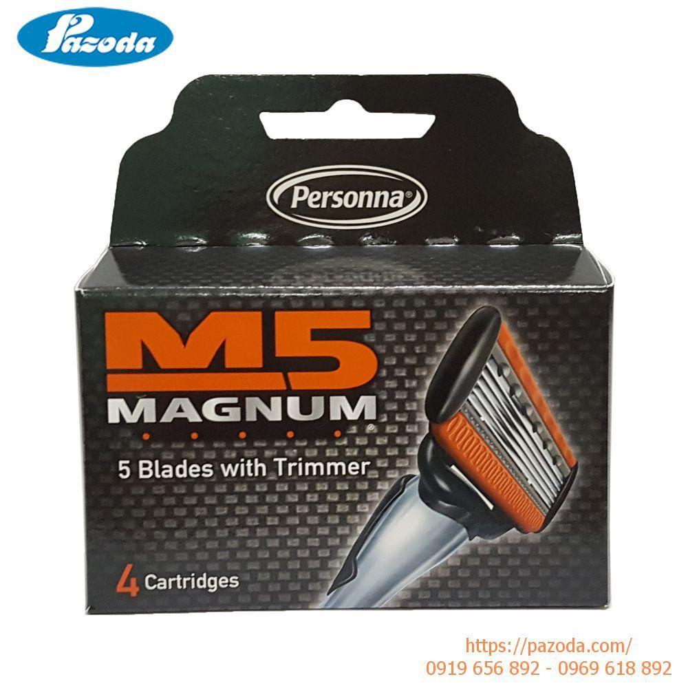 Hộp lưỡi dao cạo râu M5 magnum (Hàng nhập khẩu Mỹ) chính hãng