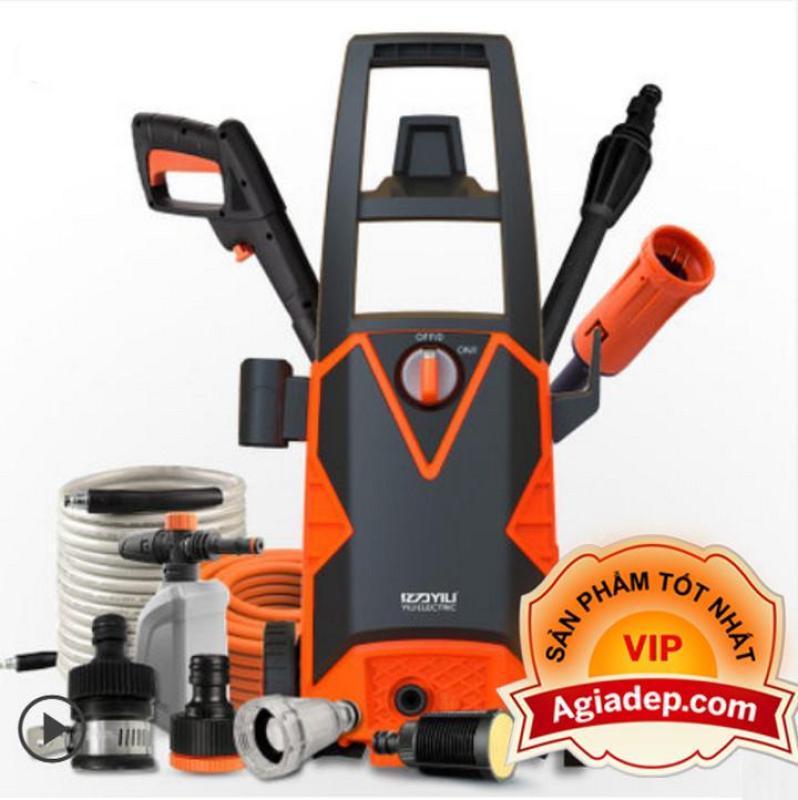 Máy bơm áp lực rửa ôtô, xe máy (bản Cao cấp + Tặng phụ kiện) Xịt, rửa oto, xe máy, v.v. Yili