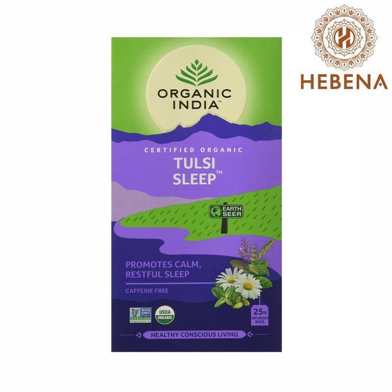 Trà tulsi cải thiện giấc ngủ Organic India Tulsi Sleep - hebenastore
