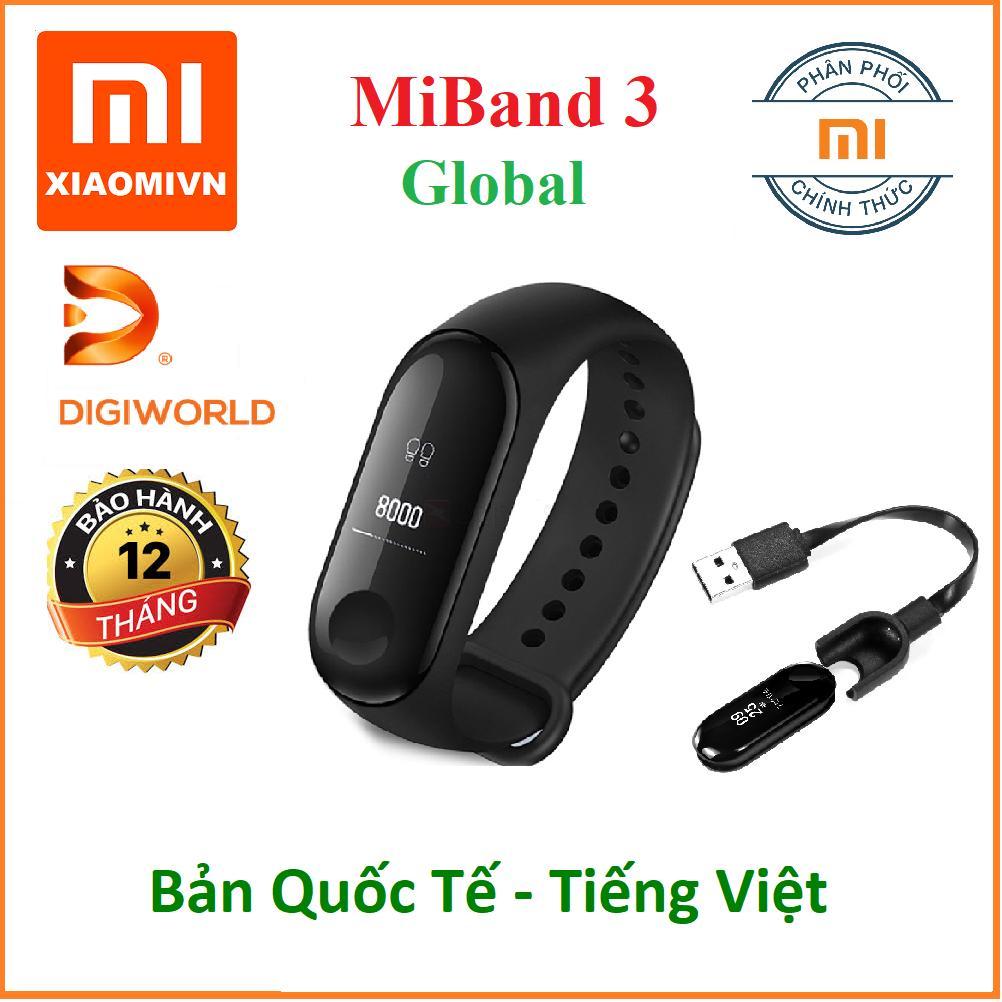 Vòng đeo tay Xiaomi MIBAND 3 - Hàng Chính hãng DiGiWorld