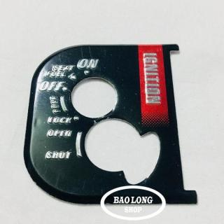 Tem Nhôm dán ổ khóa Xe máy Airblade(màu Đen) thumbnail