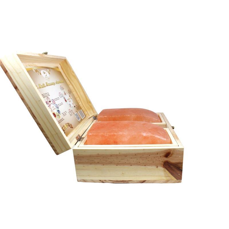 Hộp Đá Muối Massage Chân Aurosalt  -  Hai Viên Cong cao cấp