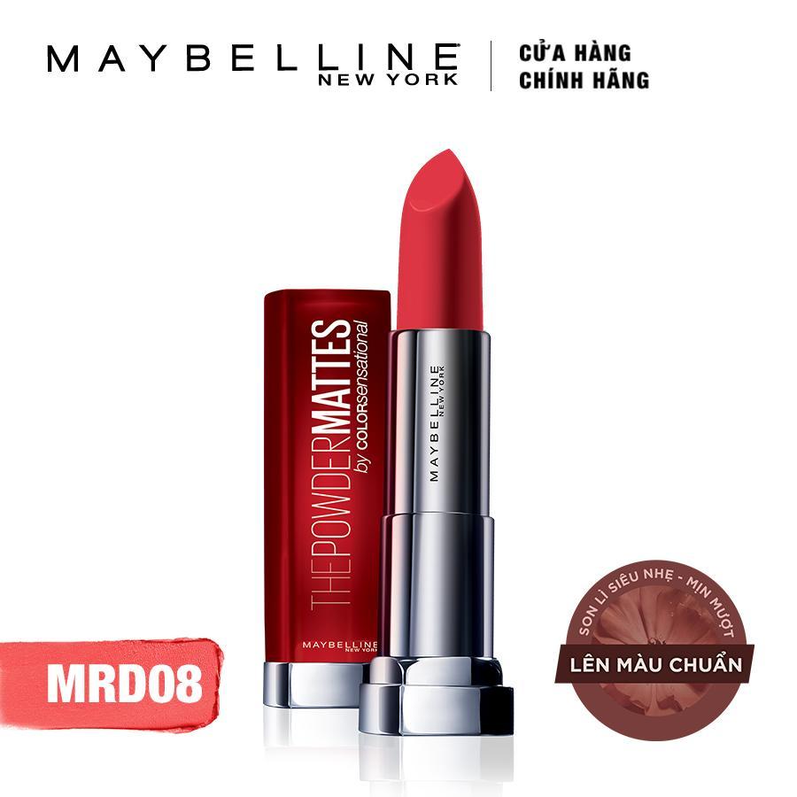 Son lì siêu nhẹ môi Maybelline New York Color Sensational Powder Matte 01 Red-dy-red 3.9g (Đỏ)