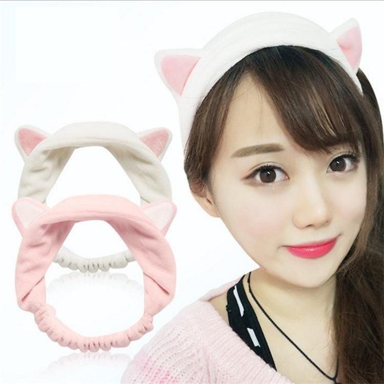 Băng Đô Tai Mèo Dễ Thương Vải Nhung Mềm Mịn