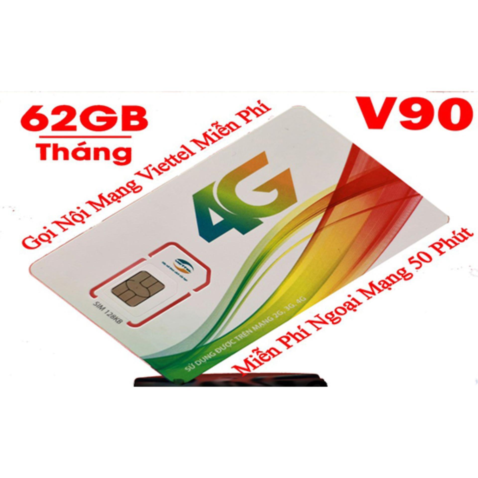 Hình ảnh Sim 4G Viettel V90 (60Gb + 4350 phút gọi miễn phí / tháng)