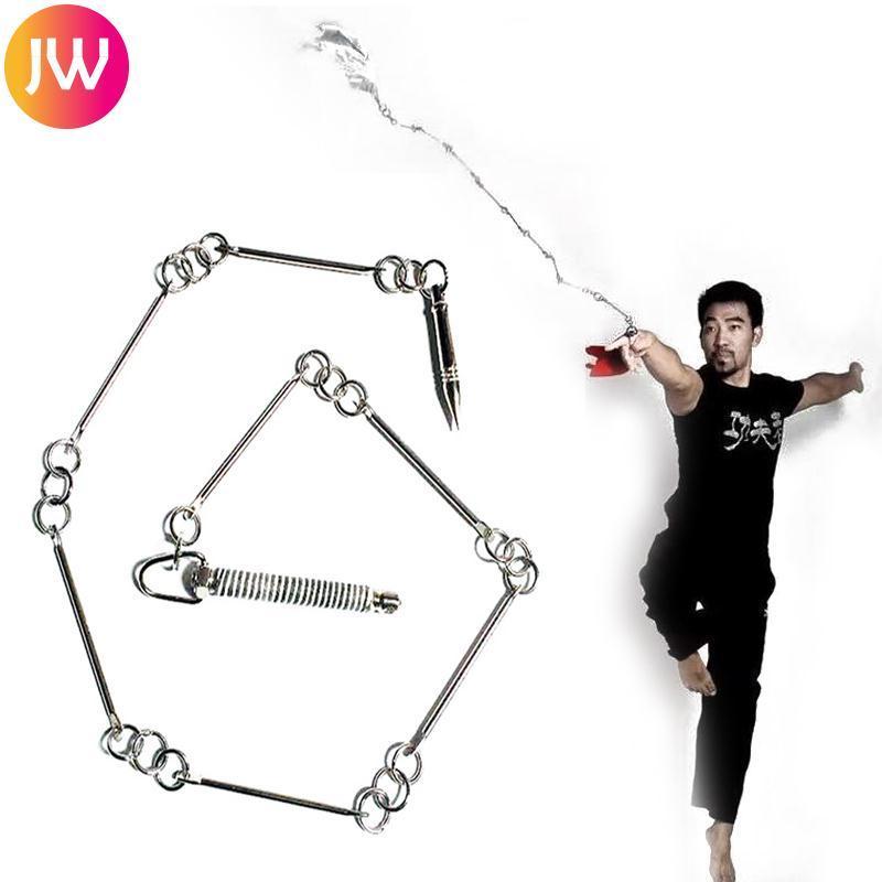 Hình ảnh Jinwen Practical Silver Stainless Steel Martial Art Equipment Metal Whip