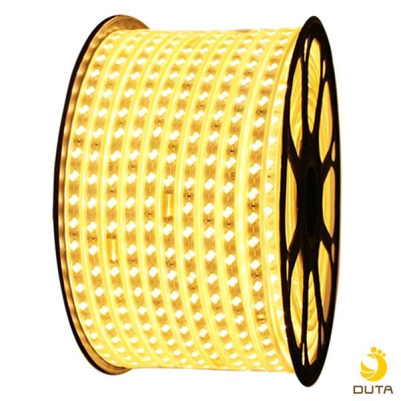 10m dây led 2 hàng bóng led 5730 siêu sáng ánh sáng VÀNG và 1 dây nguồn 220v
