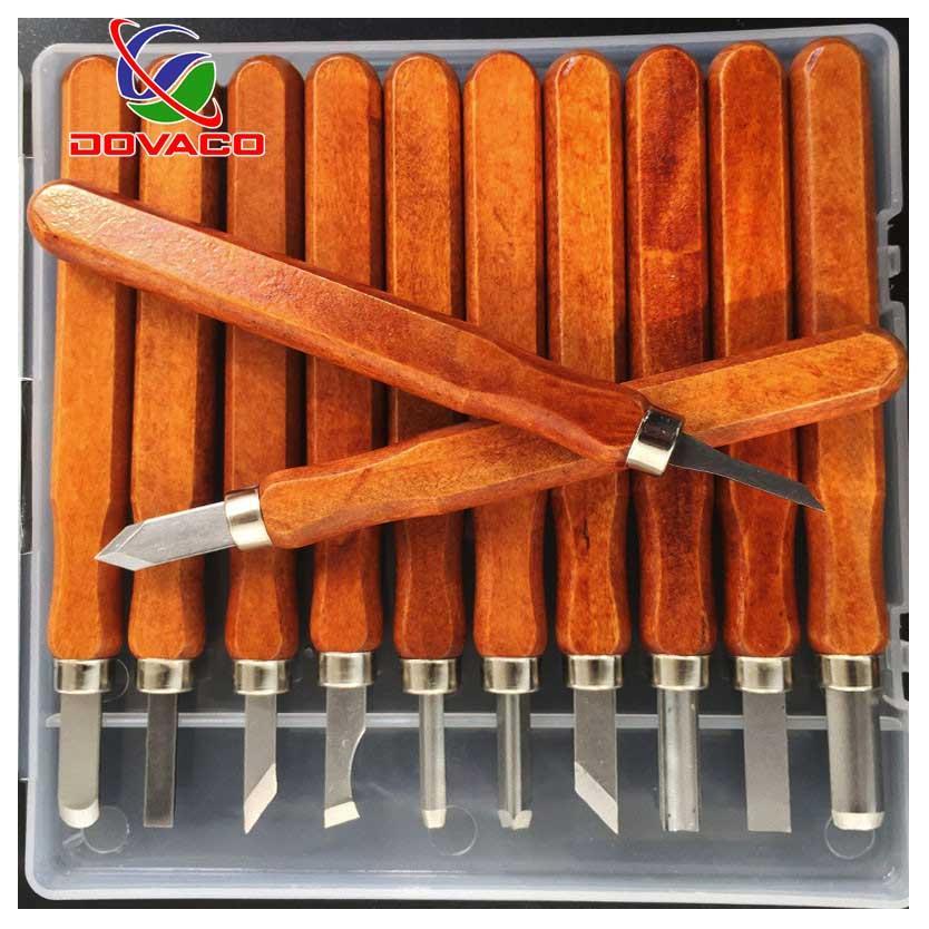Bộ 12 mũi đục khắc tiện gỗ đa năng tiện dụng( tay vàng)
